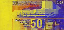 50 markka banknote backside